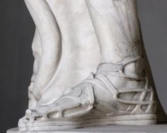 From a copy of an Ancient Roman statue, these gladiator sandals would look just fine today Ancient Rome, Ancient Greece, Types Of Sandals, Roman Sandals, Gladiator Sandals, Statue Tattoo, Stone Statues, Buddha Statues, Angel Statues