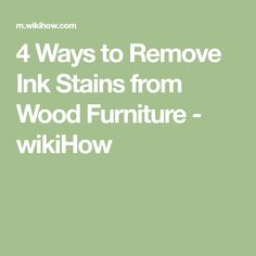 How to Remove Ink Stains from Wood Furniture. Ink stains are among the most difficult to remove, especially if they're allowed to set in. If the ink stain happens to get on wood, an unfortunately common occurrence, it's doubly frustrating. Ink Stain Removal, Wood Furniture, Ink Stains, Names, Group Health, Credit Report, Waterfall, Timber Furniture, Waterfalls