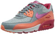 Nike Women's Air Max 90 Mgnt Gry/Fchs Frc/Brght Mng/Pr Running Shoe 6 Women US