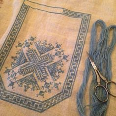 modernfolkembroidery: Slowly getting there! - It Was A Work of Craft Cross Stitches, Geometric Patterns, Needlework, Embroidery, Ornaments, Rugs, Cover, Crafts, Home Decor