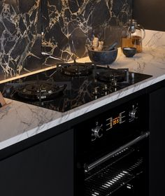 9 Profound Tips: Marble Backsplash Design herringbone backsplash lowes. Backsplash Arabesque, Black Backsplash, Beadboard Backsplash, Herringbone Backsplash, Kitchen Backsplash, Black Counters, Backsplash Ideas, Backsplash Design, Kitchen Interior