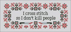 I cross stitch quote - Various Quotes - Cross Stitch Patterns - Products