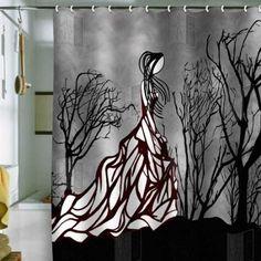 1000 Images About Unique Shower Curtains On Pinterest Shower Curtains Black Shower Curtains