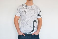 New Orleans map T-shirt by www.citeefashion.com