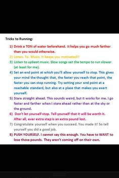 Running tips - Though I don't want to lose weight, I do want to run.