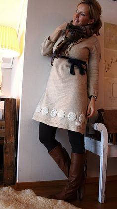 love the Odd Molly dress, the boots, the Mulberry scarf...