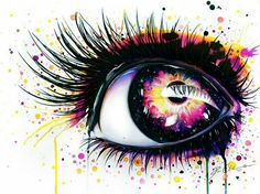 Pink And Yellow Artistic Eye | Like this pin? Follow me for more!