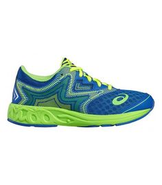 ASICS NOOSA GS IMPERIAL/GREEN GECKO/ SAFETY YELLOW J