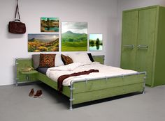 Colourz, gekleurde steigerhouten meubelen | Interieur Inspiratie