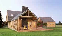 Znalezione obrazy dla zapytania dom z drewna i kamienia