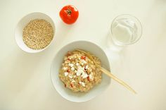 Whole Grain Barley (No-Stir!) Risotto Wi Tomato, Chilli & Creamy Cauliflower - super healthy, vegan & delish!