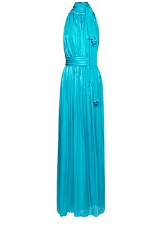 MANGO - Bow silk long dress, i like the champagne one way better..
