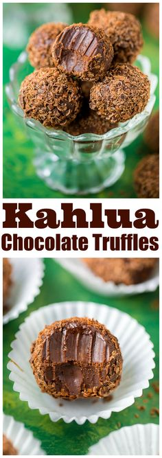 Melt-in-your-mouth Kahlua Chocolate Truffles are made with just 5 ingredients! Melt-in-your-mouth Kahlua Chocolate Truffles are made with just 5 ingredients! Source by fideszaulda CLICK Image for full deta. Just Desserts, Delicious Desserts, Dessert Recipes, Yummy Food, Brunch Recipes, Xmas Recipes, Recipes Dinner, Desserts With Alcohol, Tasty