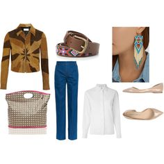 At School with Native American Style by raffaellaclausi on Polyvore featuring moda, CÉLINE, Yves Saint Laurent, STELLA McCARTNEY, Pierre Darré, Tommy Hilfiger and MANGO