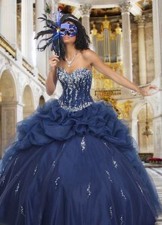 A stunning full skirted ball gown from Q by Davinci.