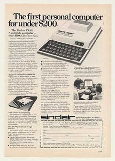 Sinclair ZX80 Personal Computer Under $200 Ad (1980).