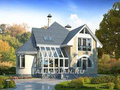 """""""Солярис"""" - загородный дом с двусветной гостиной (68A), Alfaplan.ru"""