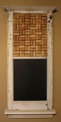 Chork Board hand made from an old wooden window via Etsy