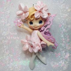 Cute Fairy, Baby Fairy, Clay Projects, Clay Crafts, Ballerina Cakes, Clay Figurine, Pasta Flexible, Clay Dolls, Fairy Dolls