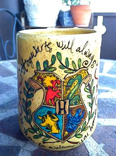 If anyone is looking for me a gift for anything... Harry Potter coffee mug by OpheliasGypsyCaravan on Etsy.