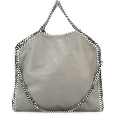 Stella McCartney Falabella tote (€925) ❤ liked on Polyvore featuring bags, handbags, tote bags, grey, tote purses, tote handbags, top handle handbags, grey tote bag and stella mccartney tote