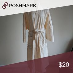 """Boca terry spa bathrobe Basic kimono waffle bathrobe with generous pockets.  Hanger loop for convenient storage.  48"""" long robe with 17"""" sleeve length.  For both women and men. Boca terry Intimates & Sleepwear Robes"""