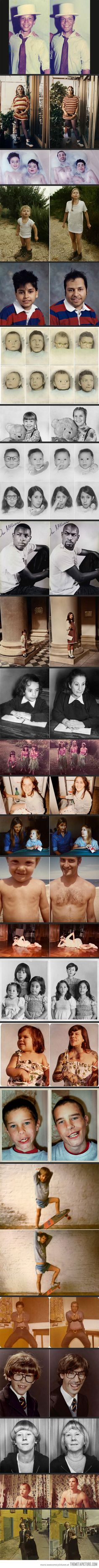 Then and Now Photos. great gift for parents - these kill me