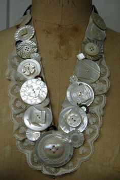 Mother of Pearl Button Necklace. $85.00, via Etsy.