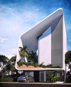 Project Casa JSH by Sanzpont Arquitectura in Cancun, Mexico Minimalist Architecture, Green Architecture, Futuristic Architecture, Concept Architecture, Sustainable Architecture, Amazing Architecture, Architecture Design, Facade Design, Exterior Design