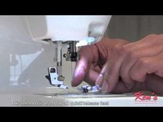 How to use the Brother Sewing Machine Blind Stitch Foot - YouTube