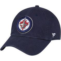 bae66ebd898 Winnipeg Jets Fanatics Branded Vintage Fundamental Adjustable Hat - Navy