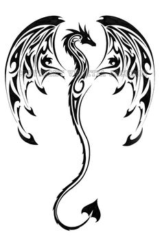 Tribal dragon back design. I like it, save for the spade at the end of the tail and how the wings aren't furled out a bit more… Tribal dragon back design. I like it, save for the spade at the end of the tail and how the wings aren't furled out a bit more… Dragon Tattoo Photo, Tattoo Dragon And Phoenix, Tribal Dragon Tattoos, Chinese Dragon Tattoos, Dragon Tattoo Designs, Celtic Tattoos, Dragon Tattoo On Leg, Dragon Tattoo Feminine, Dragon Tattoo Simple