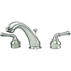 American Tap Halifax Double-handle Widespread Satin Chrome Bathroom Faucet  $70