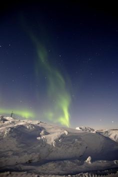 Aurora - tundra, east of Murmansk, Russia Federation 3/8/12