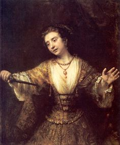 Lucretia, 1664 by Rembrandt. How Rembrandt dressed his women for death Vincent Van Gogh, Hieronymus Bosch, National Gallery Of Art, National Art, Renoir, Claude Monet, La Petite Taupe, Rembrandt Paintings, Rembrandt Art