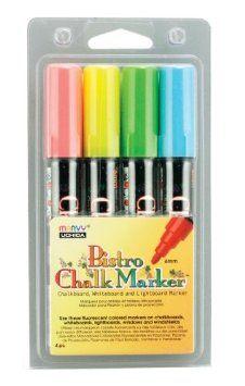 Amazon.com: Uchida 480-4A 4-Piece Bistro Chalk Marker Set: Arts, Crafts & Sewing