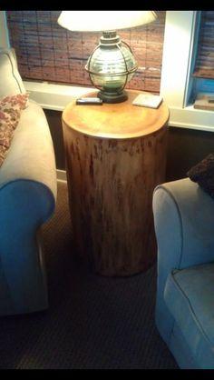 Poplar Log Coffee Table with clear poly