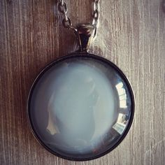 Steel painted glass pendant... Www.prettysmelly.com