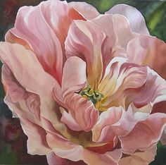 Tulip In Pink Painting by Alfred Ng