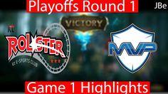KT vs MVP Game 1 Highlights LCK Playoffs