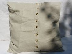Housse de coussin, housse d'oreiller de Saskia LAUTH [ ҉ ] LAUTHMOTIV http://fr.dawanda.com/product/71197275-Kissenhuelle-Borkum-100-Leinen-60-x-60-cm