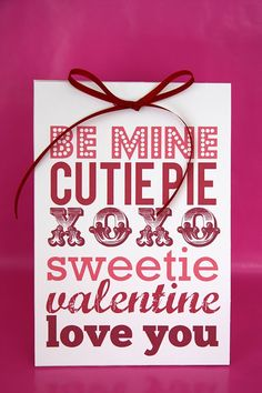 Cute Printable Valentine