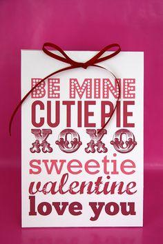 Valentines Printables #cute #pretty #Valentine #love #printable #festival #print #Tirabaralla #pink #red