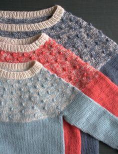 Bobble Yoke Sweater Pattern