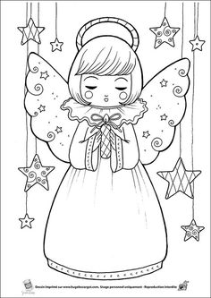 """iColor """"Little Kids Christmas"""" Angel Coloring Pages, Colouring Pages, Coloring Pages For Kids, Coloring Books, Xmas Drawing, Christmas Drawing, Christmas Angels, Kids Christmas, Christmas Crafts"""