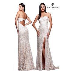 We can't get enough of #Faviana style S7601. #promdress #whitedress #weddingdress #dress http://www.faviana.com/catalog/dress-s7601