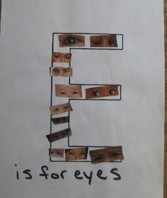 E is For Eyes - Letter E Preschool Crafts & Activities - Ceres Childcare & Preschool