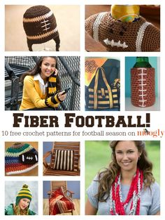 Free #Crochet Patterns for Football Season! A collection on Mooglyblog.com