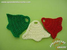 Sino de Crochê p/ Aplicação e Enfeite - Mini Peças - Aprendendo Croche