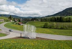 PHOTOS. Sept abribus insolites dessinés par de grands architectes à Krumbach en Autriche